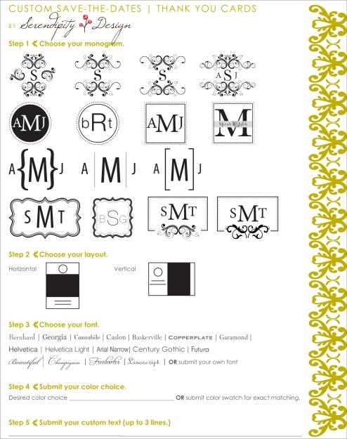 monogram form